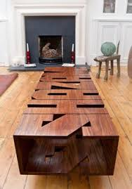 Woodwork Design Coffee Table by Bureau Table Industrielle Plateau Caracteres Imprimerie Block