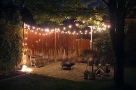 Outdoor String Lights Patio Backyard String Lights Diy Garden Ideas Lowes 20895 Gallery
