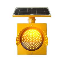 Solar Power Traffic Lights by 24 Hour Solar Flashing Warning Light 8 Inch Diameter Pole Mount