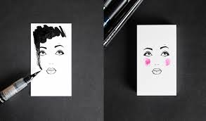 Graphic Artist Business Card Business Card For A Makeup Artist And Hair Stylist On Behance