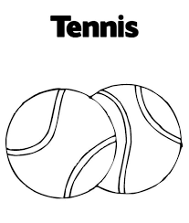 ball tennis coloring pages sport coloring pages of