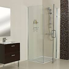 Shower Hinged Door Decem Hinged Door With Side Panel For Corner Fitting Bed And