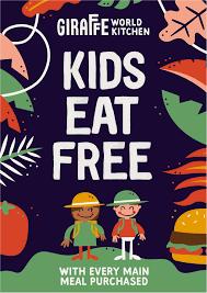 kids eat free giraffe world kitchen festival place