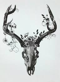 unique deer skull tattoo design tattoos pinterest deer skull