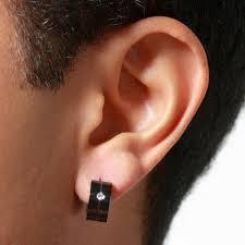 mens black earrings mens black earrings hoop e4jewelry