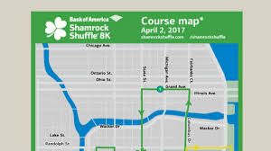 Map Of The Loop Chicago by See The Full Map Of The 2017 Shamrock Shuffle Course Nbc Chicago