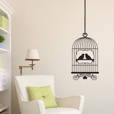 windmill removable vinyl decal art decor transfer big wall birds in a cage wall sticker vintage birdcage sticker decal wall art