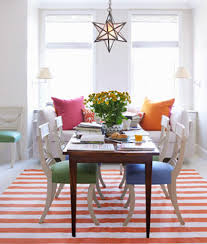 Orange And White Rugs Striped Dhurrie Summer Rugs