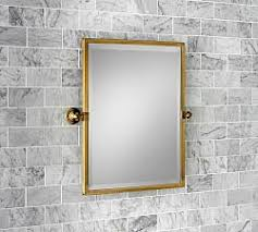 brass bathroom mirror bathroom vanity mirrors pottery barn