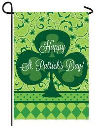 happy st patrick u0027s day clover garden flag for sale
