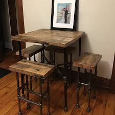 Wooden Bar Table Brown Reclaimed Originals Reclaimed Wood Bar Table And Stools