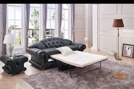 Pull Out Sleeper Sofa Black Leather Sleeper Sofa Leather Tufted Sleeper Sofa