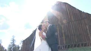 time lapse of wedding reception hall in barn stock footage video