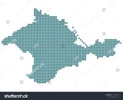 Map Of Ukraine And Crimea Abstract Map Crimea Round Dots Ukraine Stock Vector 571947280