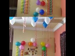 images of birthday decoration at home birthday decoration ideas at home youtube