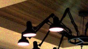 Interesting Lamps Interesting Ceiling Lights Made Up Of Regular Desk Lamps