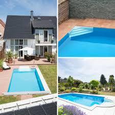 pool treppe pooltreppe zum pool selber bauen leichter anschluss an die folie