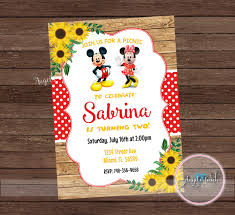 mickey and minnie mouse party invitation mickey and minnie mouse