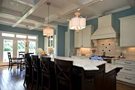 dining kitchen island with table attached and countert coffered