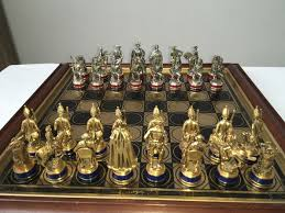 luxury chess set very rare luxury chess set gold and silver franklin mint catawiki