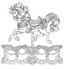 beautiful carousel horse colouring happy colouring