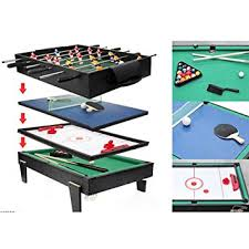 pool and air hockey table amazon com 4 in 1 multi game table pool air hockey table