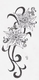 Flower Tattoos On - 24 best for flower drawing images on