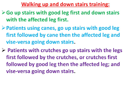 Go Down Stairs by Ppt Gait Training Powerpoint Presentation Id 350629