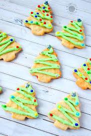 christmas tree sugar cookies momdot
