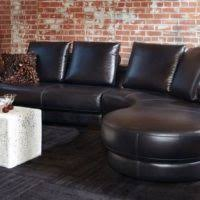 Black Leather Sectional Sofa Furniture Black Leather L Shape Sofa With Arms And Back Using