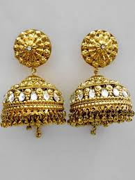big jhumka gold earrings big jhumka earring