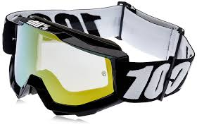 tinted motocross goggles amazon com 100 accuri goggles black tornado mirror gold lens