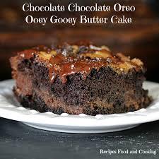 chocolate chocolate oreo ooey gooey butter cake recipes food and