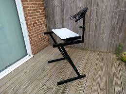 quiklok studio desk quiklok z frame keyboard synth stand and laptop mount in oxford