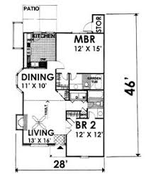 Small Cottage Style House Plans Bungalow Style House Plan 2 Beds 2 Baths 1367 Sq Ft Plan 63 284