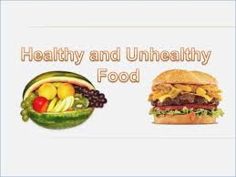 Healthy And Unhealthy Food Powerpoint Manway Me Fast Food Ppt