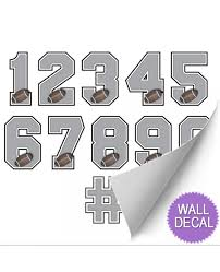 football jersey number stickers varsity numbers wall decor football wall decals for boys room
