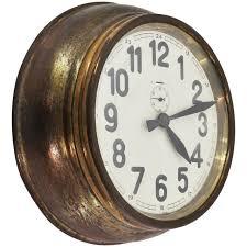 brass art deco wall clock at 1stdibs