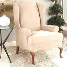 chair slipcovers target wingback slipcover how to slip cover a wing back chair wingback