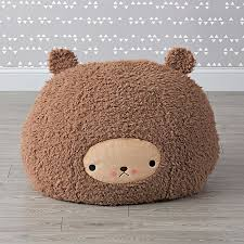 small bijou kitty bear bean bag chair the land of nod