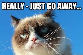 Go Away Meme - really just go away grumpy cat just go away quickmeme