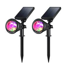 Solar Patio Lights Amazon by Creative Design Led Outdoor Solar Spotlight Multi Colored 4 Led