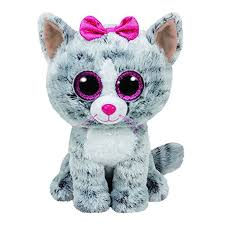ty beanie boos gray cat plush toy doll baby birthday gift