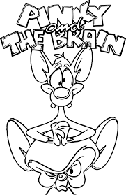 Animaniacs Volume Pinky The Brain Coloring Page Wecoloringpage Brain Coloring Page