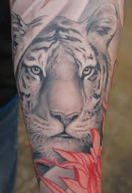 white tiger designs on arm white tiger meaning