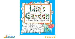Cottage Garden Book by Amazon Com Lila U0027s Garden A Cottage Garden Coloring Book