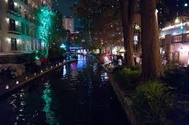 file san antonio riverwalk at night with christmas lights 2014 12
