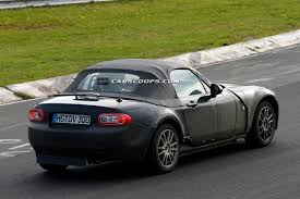 new mazda scoop test mule for new 2015 mazda mx 5 and alfa romeo spider