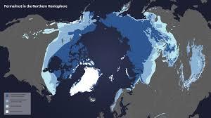 Northern Hemisphere Map Hyperwall Permafrost Extent In The Northern Hemisphere