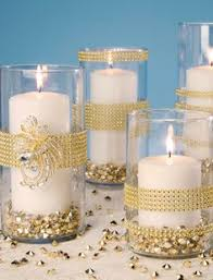 50th Anniversary Centerpieces To Make by Take Mason Jars And Coat With Glitter To Make The Candles Really